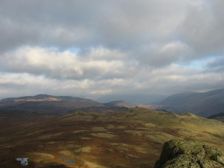 High Seat on the left, Raven Crag and Bell Crags (near right) from Standing Crag