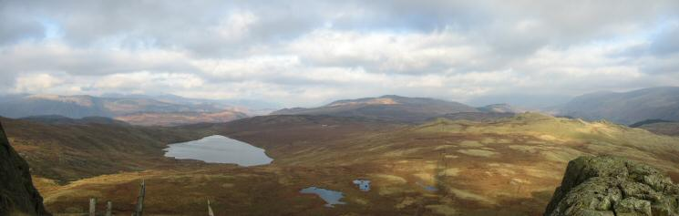 Northerly panorama from Standing Crag