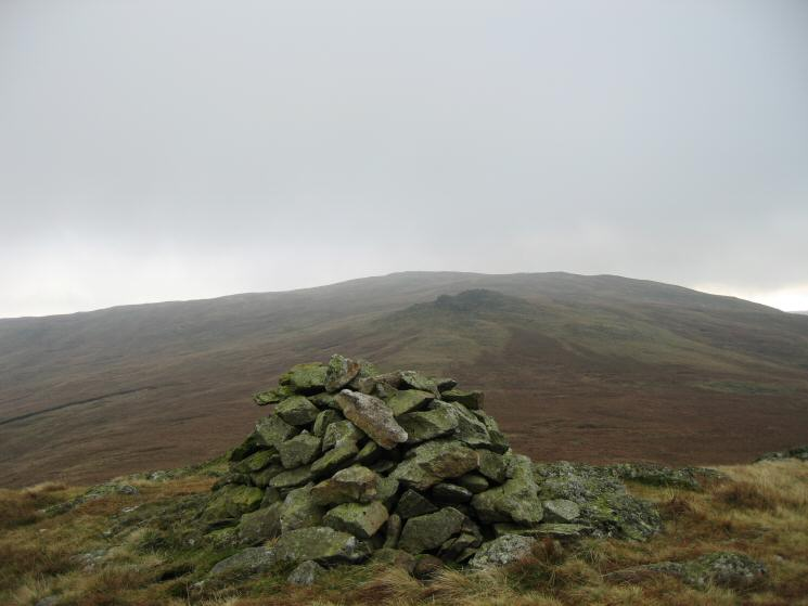 Looking back to High Saddle and Ullscarf from Low Saddle