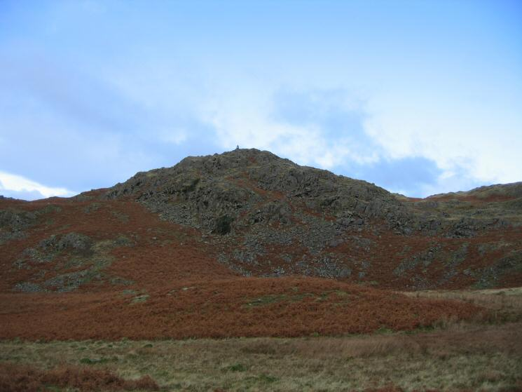 Dunnerdale Fell's south eastern top with prominent cairn