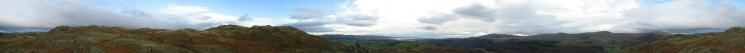 360 Panorama from Dunnerdale Fell's south eastern summit
