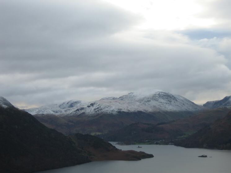 Looking up Ullswater to Saint Sunday Crag from our ascent of Green Hill