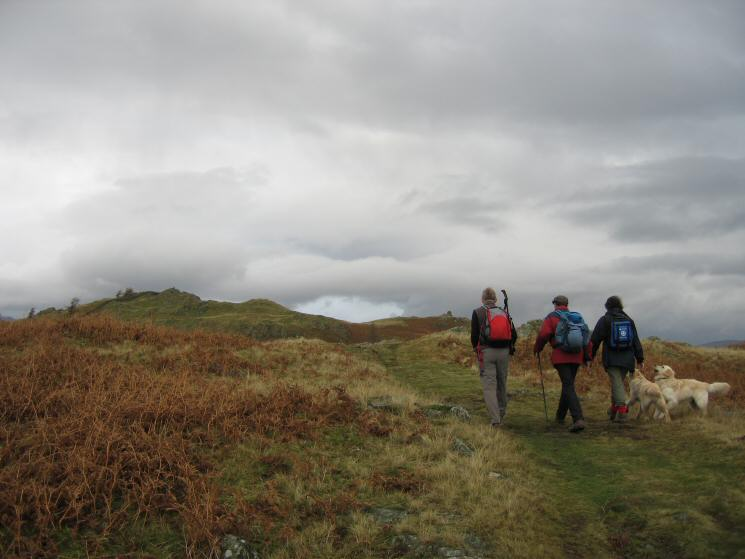 Heading for Black Crag's summit
