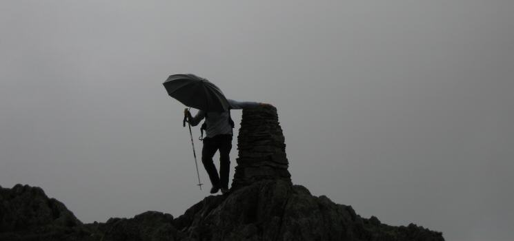 'Gene Kelly' on Place Fell's summit