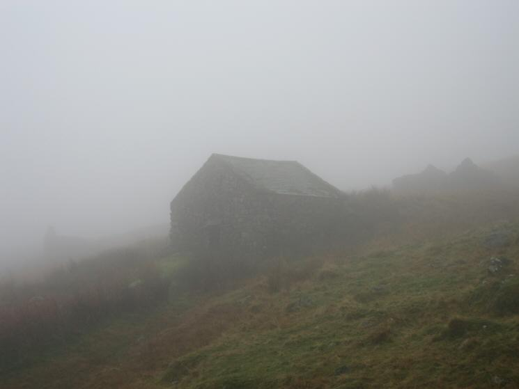 Storage huts for cut peat, above Boot