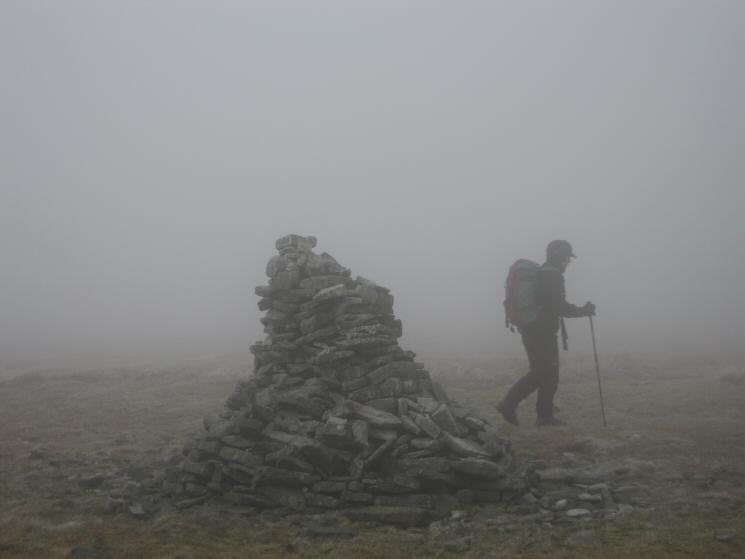 Knock Fell's summit cairn