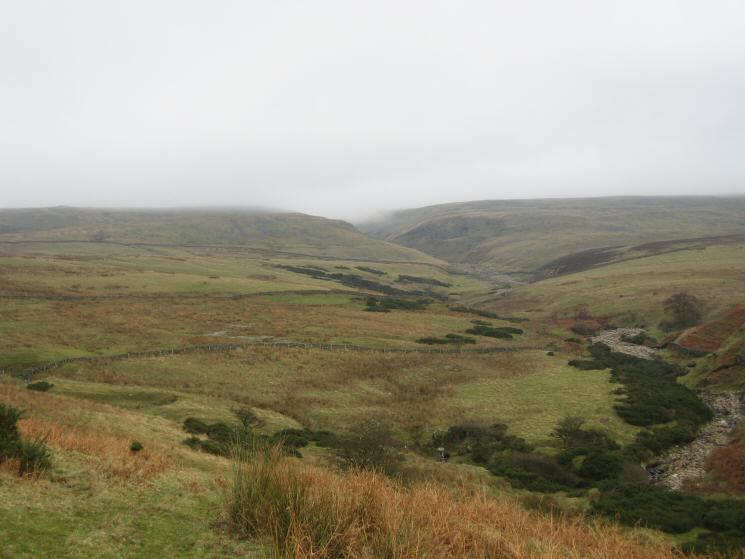 Looking up Swindale Beck from the flanks of Knock Pike