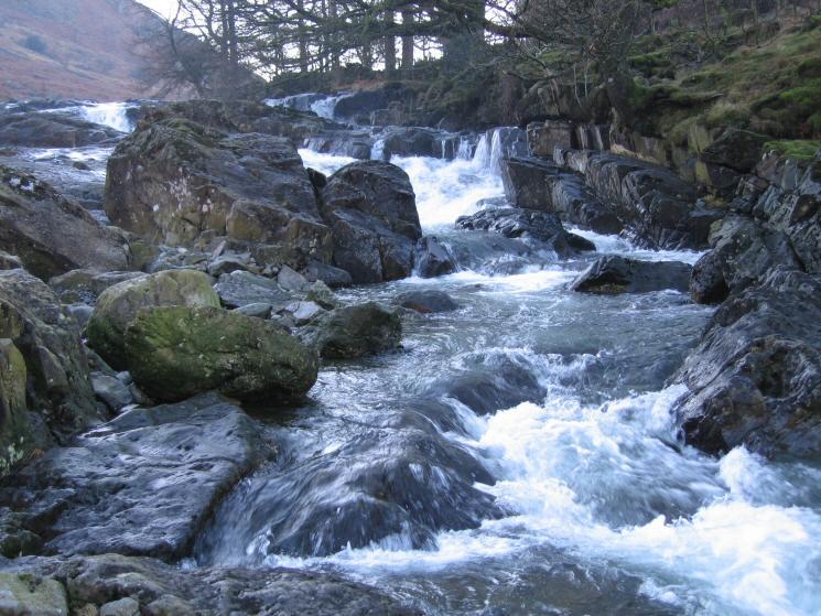 Cascades in Langstrath Beck