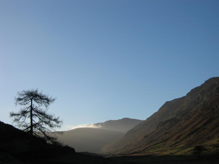 Looking up Langstrath to Bowfell