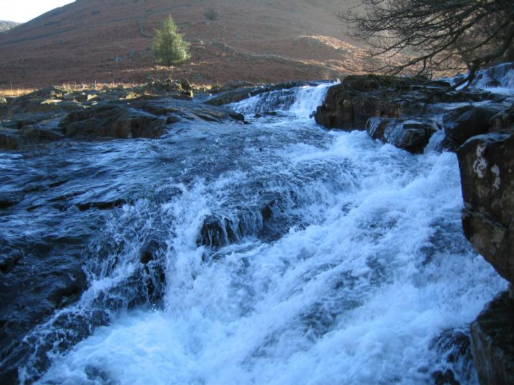Cascades in Langstrath Beck, this time from the other bank