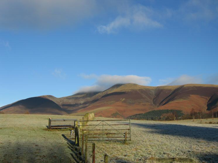 Skiddaw with a touch of cloud on its top