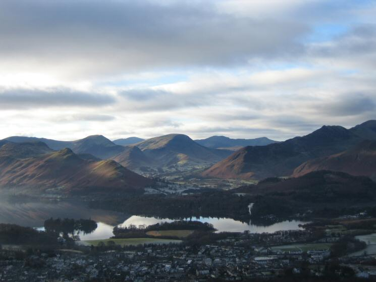 Looking over Derwent Water to the Newlands valley fells