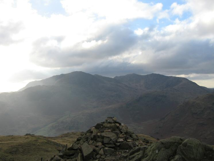 The Coniston Fells from Brown How (Lingmoor Fell's summit)