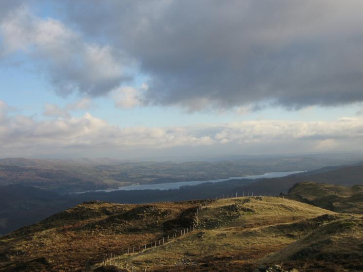 Windermere from Lingmoor Fell's summit