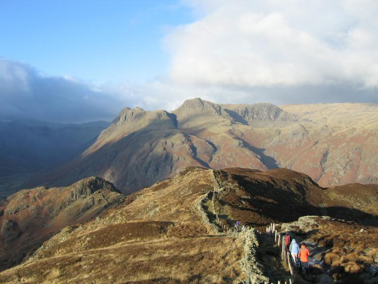 The Langdale Pikes from Lingmoor Fell