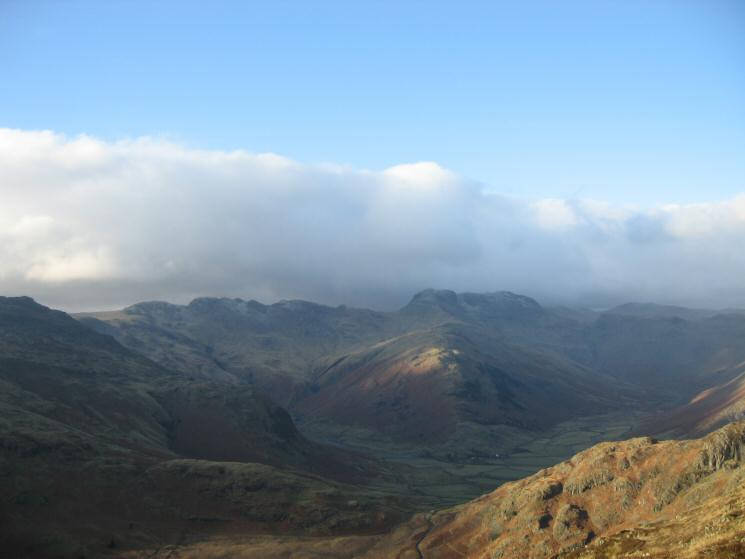 Crinkle Crags and The Band leading onto Bowfell