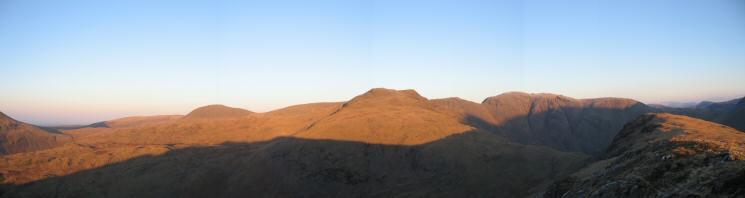Haycock, Red Pike and Pillar from Yewbarrow's summit
