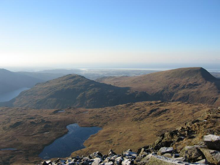 Low Tarn, Middle Fell and Seatallan from The Chair, Red Pike