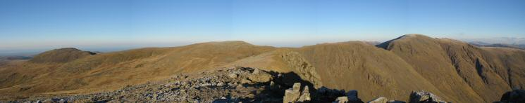 Haycock, Scoat Fell, Black Crag and Pillar from Red Pike's summit