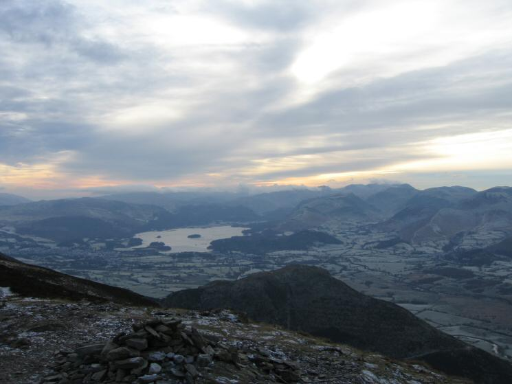 Derwent Water and the north western fells from Ullock Pike's summit