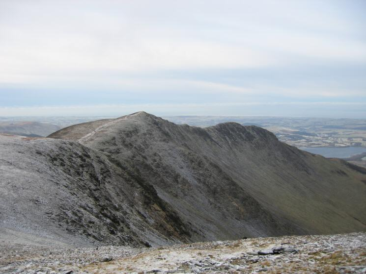 Long Side and Ullock Pike from our route up Skiddaw