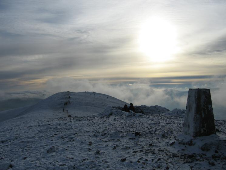 Skiddaw's summit trig point