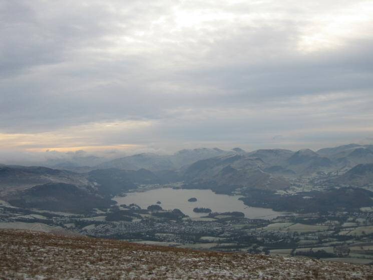 Derwent Water and Keswick from the descent