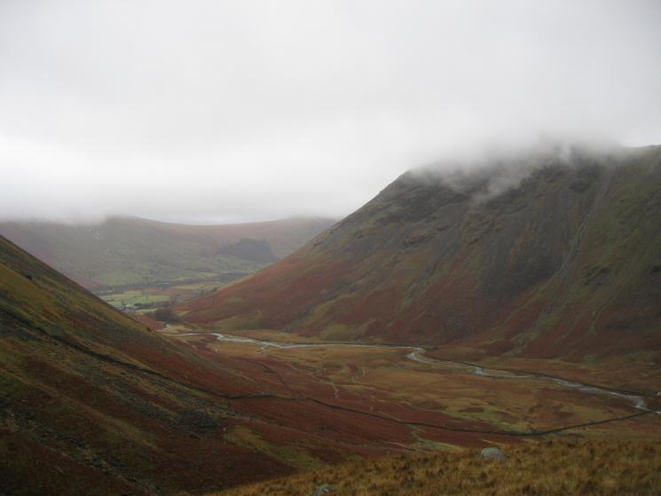 Mosedale from the Black Sail Pass path
