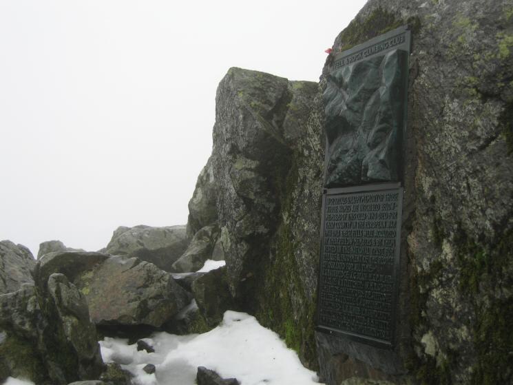 FRCC war memorial at Great Gable's summit