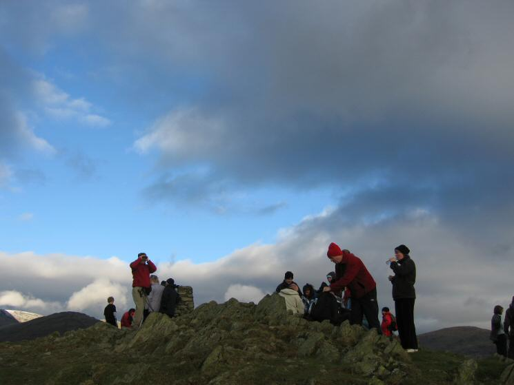 Loughrigg Fell's crowded summit