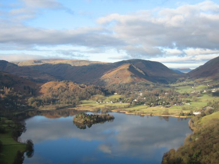 Looking over Grasmere to Helm Crag and Dunmail Raise