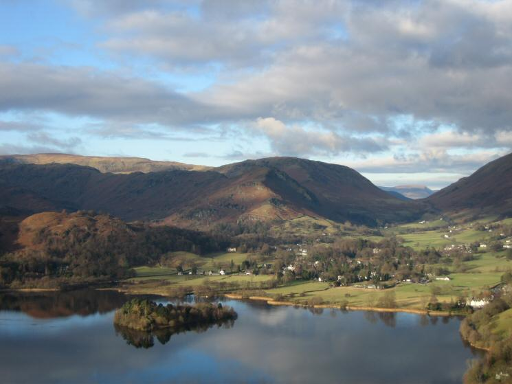 Helm Crag above Grasmere village