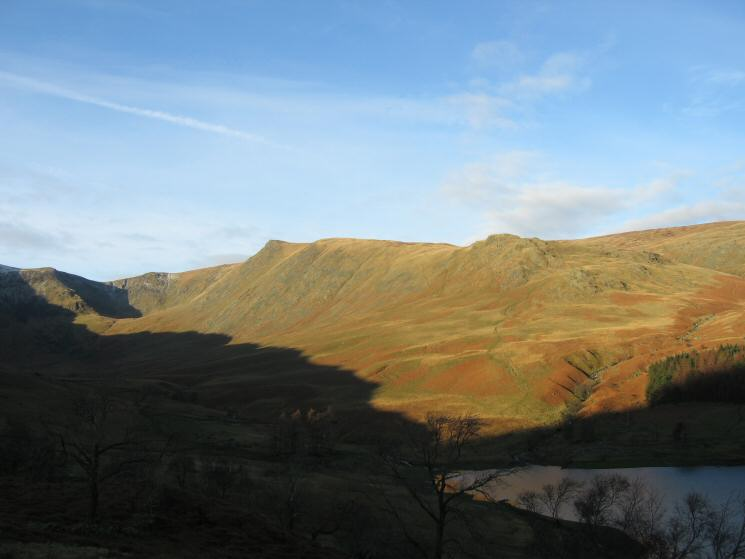 Looking across Riggindale to Kidsty Pike