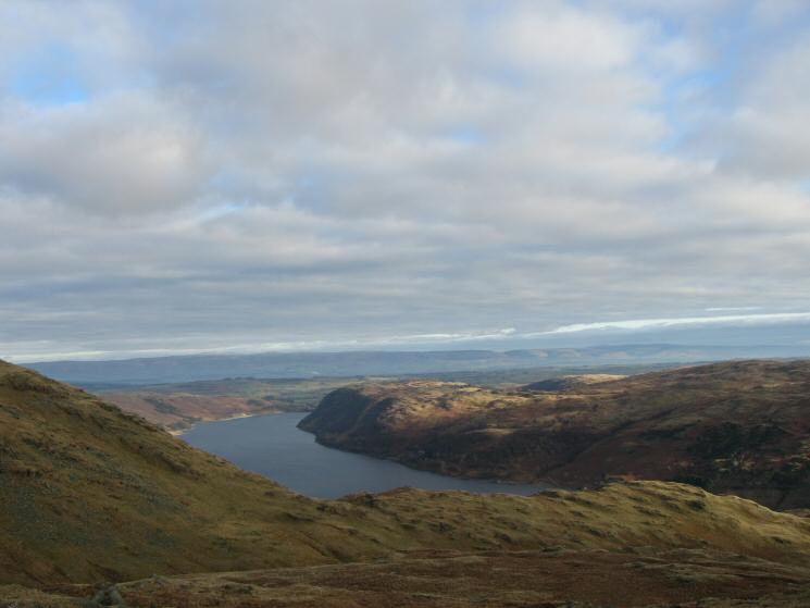 Haweswater and Naddle Forest with the North Pennines in the distance