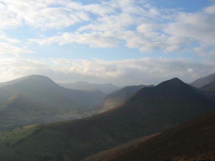 Robinson, The High Stile ridge in the distance and Ard Crags