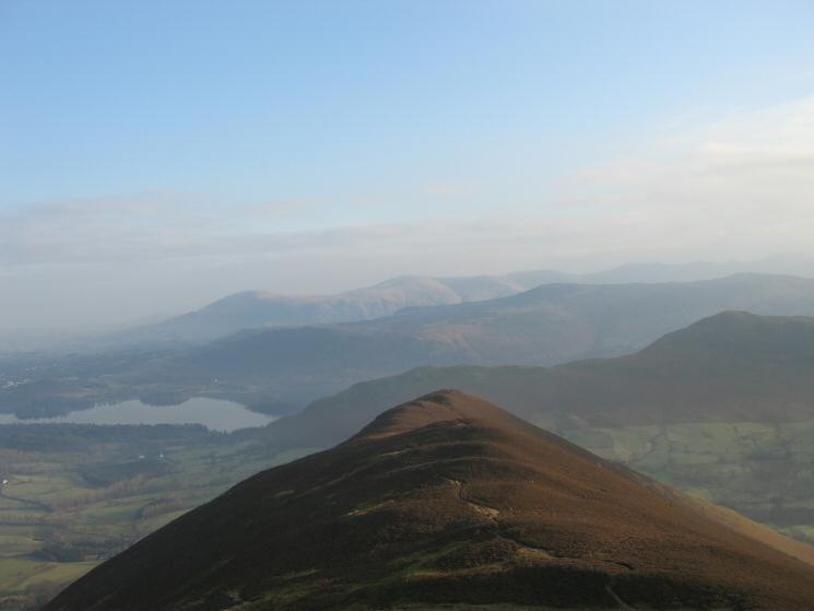 Looking back down on Rowling End from Causey Pike