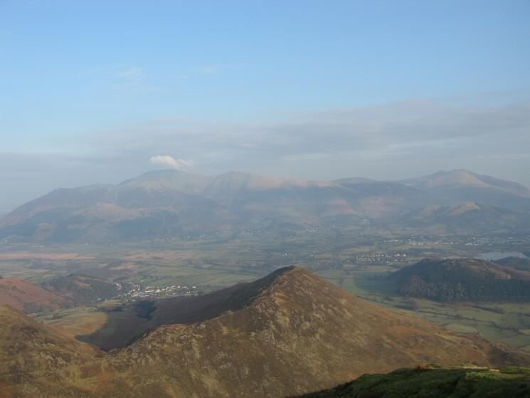 Barrow from Causey Pike's summit