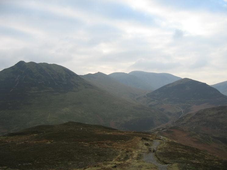 Causey Pike, Scar Crags, Sail, Crag Hill (Eel Crag) and Outerside from Barrow's summit