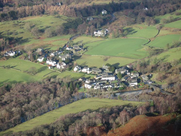 Looking down on Grange from King's How