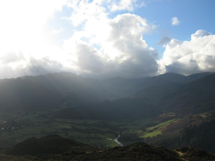 Looking south up Borrowdale