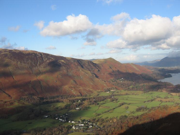 The Maiden Moor and Catbells ridge above Grange