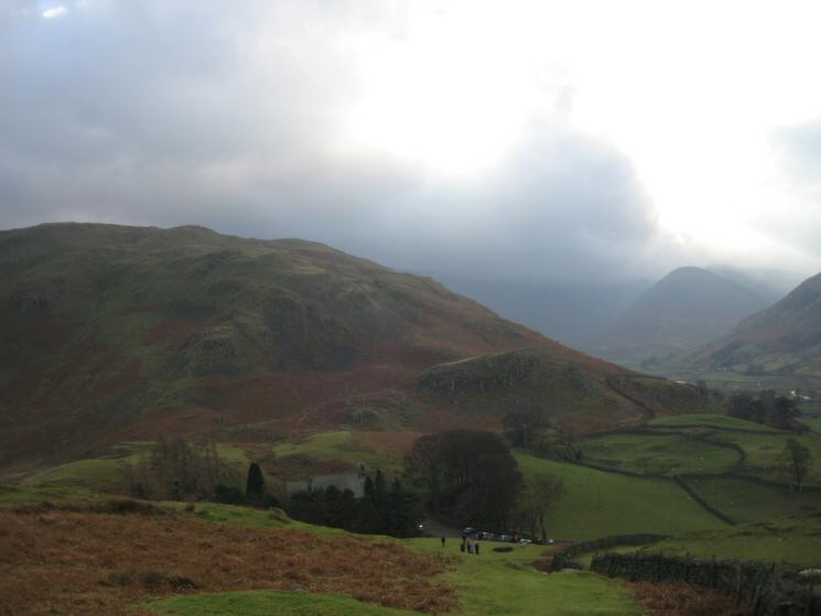 Looking back down on St. Peter's Martindale with Steel Knotts behind