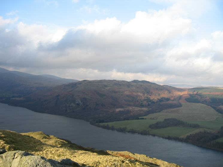Looking across Ullswater to Gowbarrow Fell