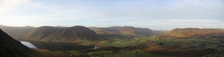 Panorama of the Loweswater Fells