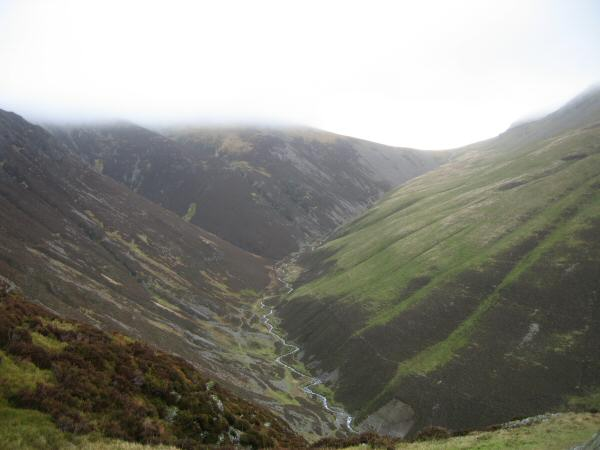 Gasgale Gill from the ascent of Whiteside
