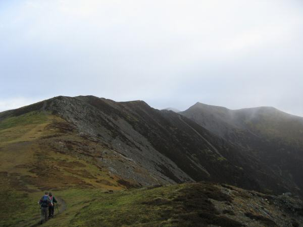 The ridge to Hopegill Head from Whiteside