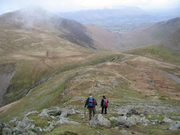 Descending to Coledale Hause