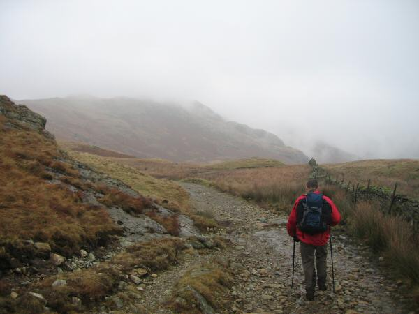 Heading back to Kentmere from the Garburn Pass