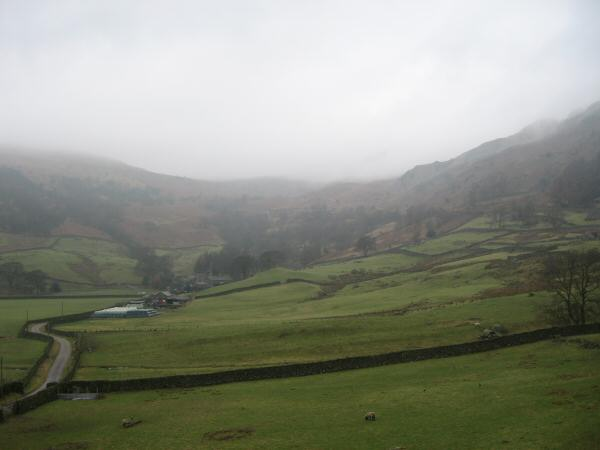 Looking back up towards the Garburn Pass from Kentmere