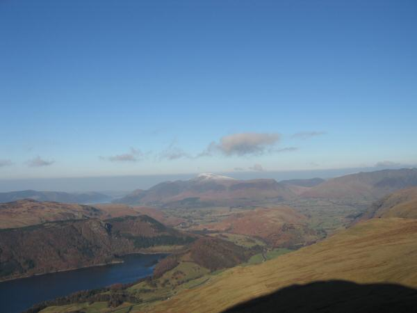 Thirlmere and Skiddaw from the Browncove Crags path